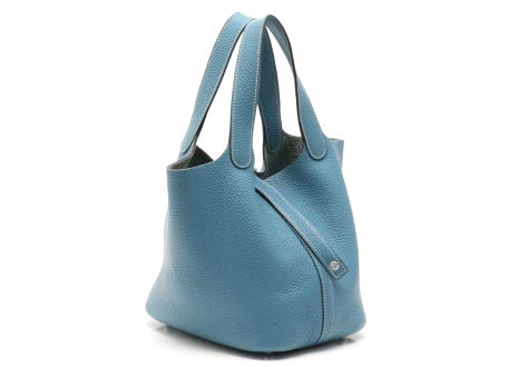 エルメスピコタンロック MM トリヨンクレマンス ブルージーン ハンド バッグ  HERMES Picotin Lock MM Taurillon Clemence Bleu Jean Hand Bag