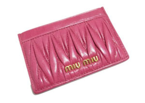 ミュウミュウ カード ケース  MIU MIU CARD CASE